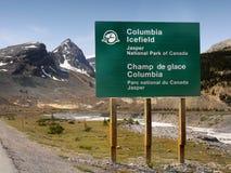 Kolumbia Icefield, Jaspisowy park narodowy, Kanada Fotografia Royalty Free