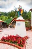 Kolumbia Nemocon statua madonna z dziecko pamięcią górnicy obraz royalty free
