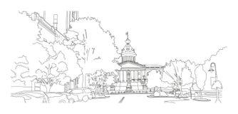 Kolumbia SC †'widok na stanu domu ilustracji