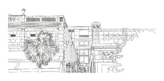Kolumbia SC - budynek magistrali St ilustracji