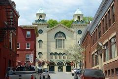 Kolumbia Uliczny kościół baptystów, Bangor, JA Fotografia Royalty Free