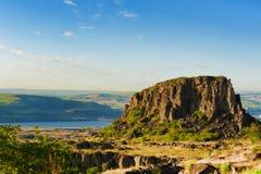 Kolumbia wąwozu wysokości pustyni Rzeczny krajobraz Obrazy Stock