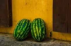 Kolumbianische Frucht Tipycal Köstliche Wassermelone Stockfotos
