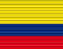 kolumbianische Markierungsfahne Stockbild