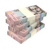 Kolumbianische Pesos lokalisiert auf weißem Hintergrund Stockbild