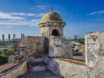 Kolumbianische schöne STADT Cartagena lizenzfreies stockbild