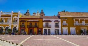 Kolumbianische schöne STADT Cartagena stockfotos