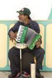 Kolumbianischer Musiker, der Musik in der Straße von Salento, Colom spielt Lizenzfreie Stockfotografie