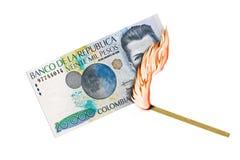 Kolumbianischer Peso-Brand Lizenzfreie Stockbilder