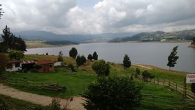 Kolumbianischer See stockfoto