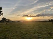 Kolumbianischer Sonnenuntergang lizenzfreie stockbilder
