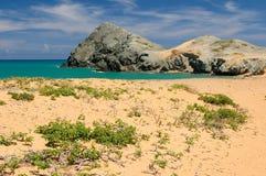 Kolumbianischer Strand Lizenzfreies Stockfoto