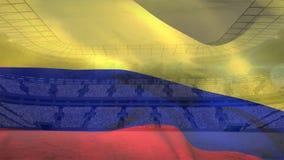 Kolumbianisches fahnenschwenkendes vektor abbildung
