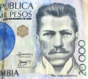 Kolumbianisches Geld lizenzfreie stockfotos