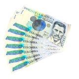 Kolumbianisches Geld lizenzfreies stockbild