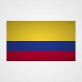 Kolumbien-Flagge auf einem grauen Hintergrund Auch im corel abgehobenen Betrag lizenzfreie abbildung