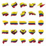 Kolumbien-Flagge, Vektorillustration stock abbildung