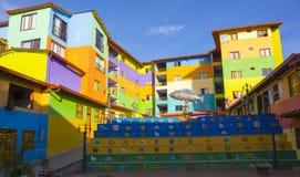 Kolumbien - Guatape - buntes Stadtzentrum Lizenzfreie Stockfotos