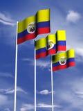 Kolumbien-Markierungsfahne Stockfoto