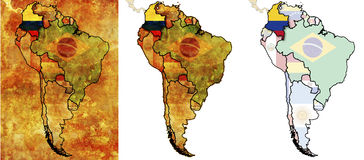 Kolumbien-Markierungsfahnengegend Lizenzfreies Stockfoto