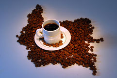 Kolumbien-Rand-Kaffee   Lizenzfreie Stockfotografie