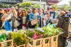 Kolumbien-Straßen-Blumenmarkt Lizenzfreies Stockfoto