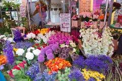 Kolumbien-Straßenblumenmarkt Stockfotos