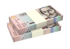 Kolumbijscy peso odizolowywający na białym tle Zdjęcia Stock