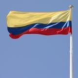 kolumbijska flagę Obrazy Stock
