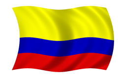 kolumbijska flagę Fotografia Royalty Free