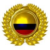 Kolumbijska flaga Obraz Royalty Free