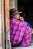 Kolumbijska miejscowa kobieta w duitama fotografia royalty free
