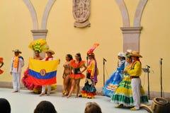 Kolumbijska taniec grupa przy festiwalem Kulturalnym Obraz Stock