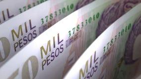 Kolumbijskich peso zakończenie ilustracji