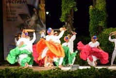 Kolumbijskiej klasycznej taniec grupy sceny namiętny występ Zdjęcie Royalty Free