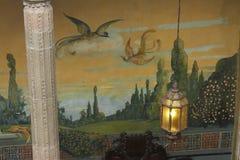 Kolumna i lampion, Casa De Los Azulejos, CDMX obraz royalty free