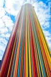 Kolumna robić od colorlul linii Zdjęcie Stock