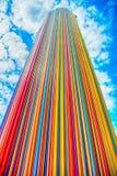 Kolumna robić od colorlul linii Obraz Royalty Free