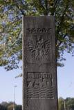 Kolumna upamiętnia 750th rocznicę Arnhem Fotografia Royalty Free