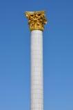 Kolumna z złocistym ornamentem Zdjęcie Royalty Free