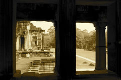 Kolumnada, Ankor Wat zdjęcia royalty free