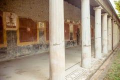 Kolumnada antyczny rzymianin, Pompeii fotografia stock