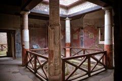 Kolumnada antyczny rzymianin, Pompeii zdjęcie royalty free