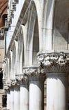Kolumnada doża pałac w Wenecja obraz royalty free