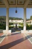 Kolumnada i basen Getty willa długo, Malibu J willa Paul Getty muzeum w Los Angeles, Kalifornia obrazy royalty free