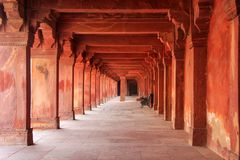 Kolumnada Panch Mahal w Fatehpur Sikri, Uttar Pradesh, India zdjęcie stock