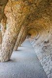 Kolumnada parkowy guell w Barcelona obrazy royalty free