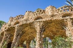 Kolumnada przy parkowym Guell w Barcelona zdjęcia royalty free