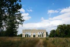 Kolumnada Reistna, romantyczna klasycysta glorieta blisko Valtice, Moravia, republika czech zdjęcie royalty free
