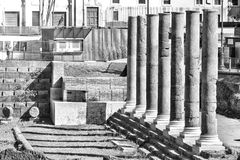 Kolumnada rzymski forum fotografia stock